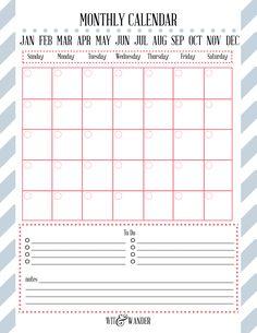 Blank Month Calendar Version  Printable  Printables