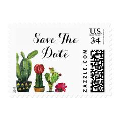 #wedding - #Save The Date Fiesta Wedding Cactus Stamps Postage
