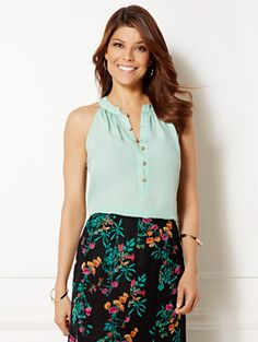 Shop Eva Mendes Collection - Gabby Halter Blouse . Find your perfect size online at the best price at New York & Company.