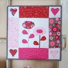 Valentine's mini quilt by Ameroonie Designs. Bloom Sew Along at Riley Blake Designs.