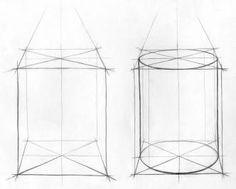 Art Drawing Tips Pencil Drawings For Beginners, Pencil Art Drawings, Art Drawings Sketches, Easy Drawings, Perspective Drawing Lessons, Perspective Art, Academic Drawing, Geometric Shapes Art, Mushroom Drawing
