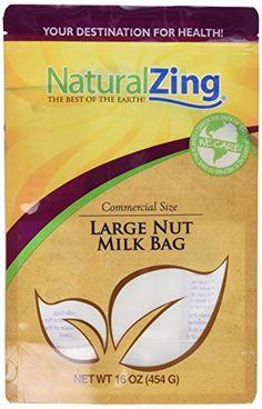 Fine Mesh Reusable Large Nut Milk Bag-2 gal. Natural Zing