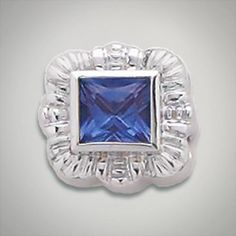 6x6 mm Square Iolite set in Sterling Silver Slide. All Sterling Silver is Rhodium plated. Metal:Sterling Silver Designer:Goldman-Kolber $ 140.00 Item #: FHTFHZ Call 870-863-8818 for personal consultation.