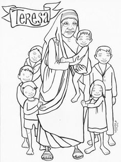 mother teresa coloring pages for children