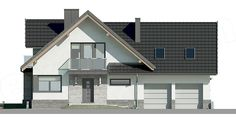 Unique Country House Plan With Four Bedrooms And Three Bathrooms - House And Decors Classic House Design, Modern House Design, Porch House Plans, French Country House Plans, Modern Architecture House, Modern House Plans, Home Design Plans, Design Case, House Layouts