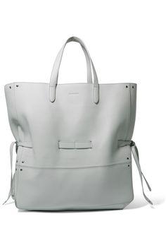 JIL SANDER Leather tote. #jilsander #bags #leather #hand bags #tote #
