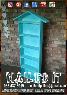 Pallet wood DVD / Book shelf. Affordable pallet wood furniture designed by you, built by us. For more info, contact 0834376919 or naileditpallets@gmail.com #palletshelves #palletdvdrack #palletdvdshelf #palletbookshelf #palletbookshelves #custompalletfurniture #palletfurniture #custompalletfurnituredurban #palletfurnituredurban #nailedpalletfurnituredurban #naileditcustombuiltpalletfurniture #nailedcustompalletfurniture