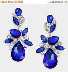 Bridal jewelry Bridal earrings Wedding jewelry by GlamDuchess