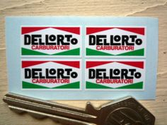 DELLORTO Set of 4 25mm Stickers Ducati Alfa Vespa etc | eBay