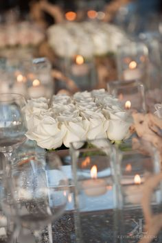 White Rose Centerpiece by Yvonne Design