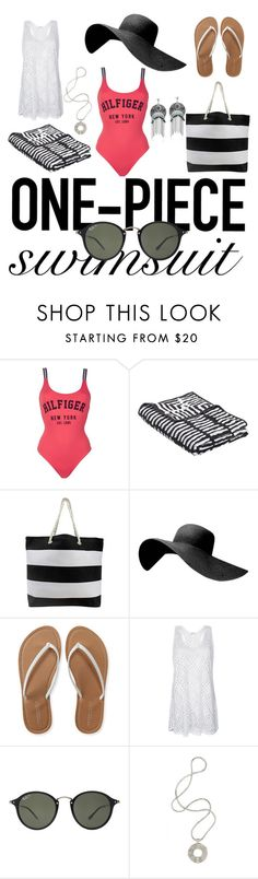 """""""Untitled #16"""" by jonelle-i ❤ liked on Polyvore featuring Tommy Hilfiger, Wrong for Hay, Aéropostale, Ray-Ban, Lara Bohinc and onepieceswimsuit"""