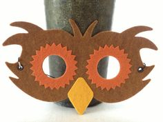 Felt Owl Mask - Pretend Play Costume Mask - i Crown You Animal Masks