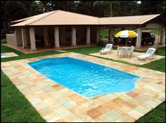 Outdoor House Colors, Small Pools, Plunge Pool, Jacuzzi, Cabana, Interior Design Living Room, Outdoor Gardens, Backyard, Cottage
