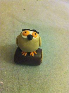 Gruffalo Party: How to make the Owl 6th Birthday Cakes, Twin First Birthday, Birthday Cake Girls, Birthday Ideas, Fondant Owl, Gruffalo Party, Woodland Cake, Owl Cakes, Cupcake Wars