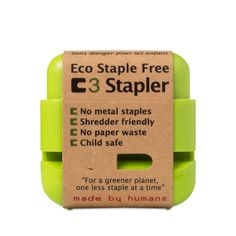 Shop Made by Humans Eco Staple Free Stapler - Green at wholesale price only at ThriveMarket.com