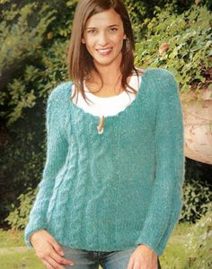 Patron para tejer un sweater asimetrico