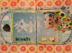 Moje (wy)twory: Art Journal - Breath