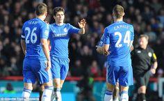 Oscar celebrates his goal. #Brentford2Chelsea2