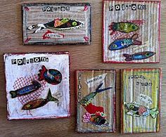 J aime l idee des morceaux de carton peints Classroom Art Projects, Art Classroom, Projects For Kids, Underwater Art, Ecole Art, Class Decoration, Plastic Art, Sea Theme, Kindergarten Art