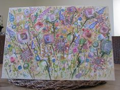 In The Meadow    Markers and Acrylic on canvas board. By Mary Wadsworth