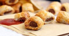An easy 5 ingredient recipe for the best homemade sausage rolls ever by Sugar Salt Magic. Perfect snack and one of my fave Christmas traditions.
