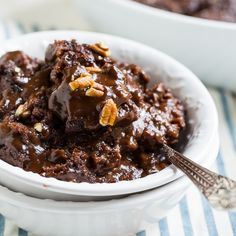 Chocolate Cobbler | It has a rich, fudgy chocolate sauce that magically forms on the bottom of the baking dish as it cooks. The top is like a cakey, chewy brownie. @FMSCLiving