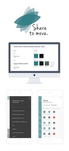 Share to move Application Web, Conception, Logo, Studio, Design, User Interface, Corporate Design, Logos
