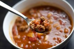 Barbecue Turkey Chili. Warm and hearty weight-loss surgery meal!