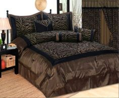 King 7 Piece Bedding Flock Comforter Set Brown / Black Zebra Bed-in-a-bag, http://www.amazon.com/dp/B007PWHBP8/ref=cm_sw_r_pi_awdm_Nw6ltb1TH5H47