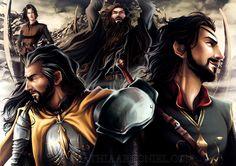 The Greyjoys ( right to left: Euron, Aeron, Victarion and Asha)