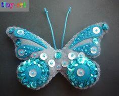 Beaded Embroidery, Hand Embroidery, Felt Crafts, Diy Crafts, Fairy Dolls, Button Crafts, Xmas Ornaments, Felt Art, Felt Flowers