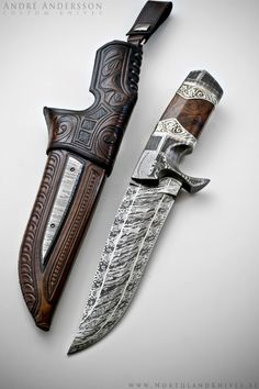 André Andersson Custom Damascus Knives - Knives, Daggers, Swords and Artknives from Sweden