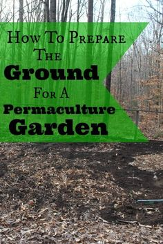 Preparing the ground for a permaculture garden | http://areturntosimplicity.com