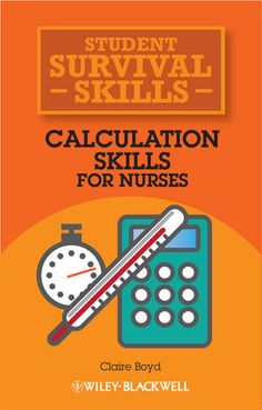 Buy Calculation Skills for Nurses by Claire Boyd at Mighty Ape Australia. Providing nursing students with words of wisdom and advice from real-life student nurses, Calculation Skills for Nurses enables you to calculate drug . Nursing Math, Nursing School Tips, Nursing Books, Nursing Tips, Nursing Students, Nursing Schools, Nursing Diagnosis, Student Nurse, Pharmacology Nursing