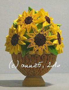 quilling słoneczniki - Szukaj w Google