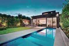 modern backyards with pools - Google Search