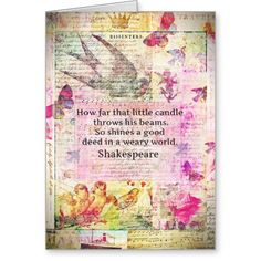 Shop Shakespeare inspirational quote about good deeds card created by shakespearequotes. Wuthering Heights Quotes, Emily Bronte Quotes, Shakespeare Quotes, William Shakespeare, Freedom Quotes, Vintage Canvas, Good Deeds, Custom Greeting Cards, Custom Posters