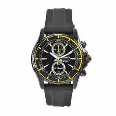 Seiko Men's SNN249 Arctura Black Rubber Strap Chronograph Dial Watch Seiko. $128.27. Water resistant. Black rubber strap. Quartz movement. Scratch-resistant hardlex crystal. Black chronograph dial; Luminescent hands. Save 53%!