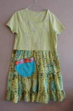 Fun/ Artsy / Romantic / Upcycled Dress/ OOAK / Sassy / by upCdooZ, $48.00