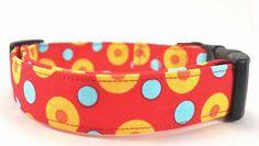 Dots in Yellow - Dog Collar. $16.50, via Etsy.