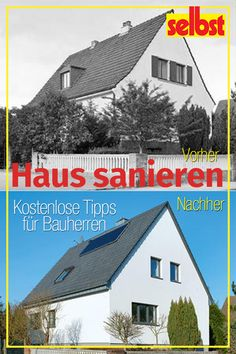 Haus sanieren 6 steps to the goal: Insulate roof insulation, facade insulation, basement ceiling, in Basement Ceiling Insulation, Roof Insulation, Minecraft Roof, Roof Cladding, Roof Storage, Playground Flooring, Tub Remodel, Isolation, Basement Bedrooms
