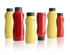 Meira Oy / Ketchup and mustard bottles / Ketsuppi ja sinappi pullot