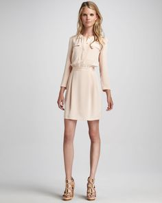 Brunella Zip-Pocket Charmeuse Dress by Theory