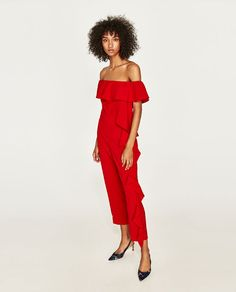 Image 4 of FLOWING RUFFLED JUMPSUIT from Zara https://bellanblue.com/collections/new