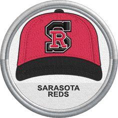 Sarasota Reds - baseball cap hat sports logo uniform - Florida State League - Minor League Baseball - MiLB - Created by Jackson Cage