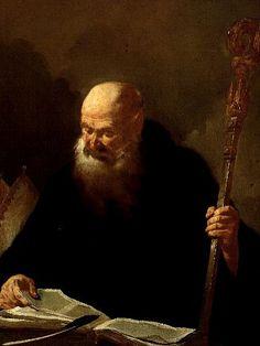 St Benedict   or Piazetta Giambattista Piazzetta   oil painting  #religious art