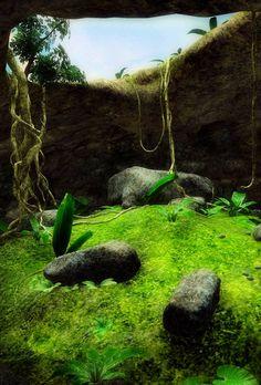 Mossy pit