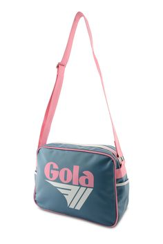 Gola Redford Messenger - Blue/Pink/White. FREE Delivery and 10% OFF your first order at schoolbagstation.com