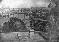 La statue d'Henri IV sur le Pont Neuf à Paris, Daguerre 1837. Coll. Musée des Arts et Métiers
