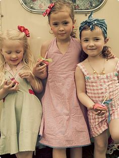 ROCKEFELLA Cajsa, gestreift - 50s Kinder Kleid | Flaming Star Shop